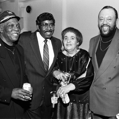 "Jack McDuff, Jimmy McGriff, Gloria Coleman, Charles ""The Mighty Burner"" Earland"