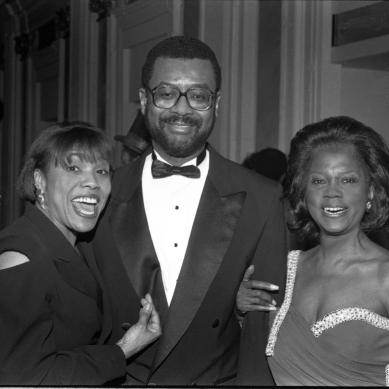 Dee Dee Bridgewater, Cephas Bowles (General Manager, WBGO) and Ernestine Anderson