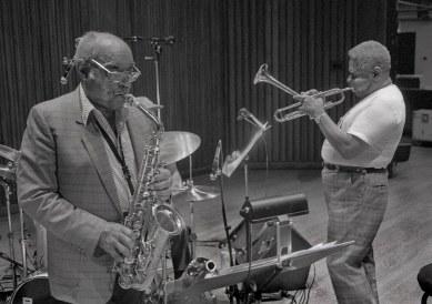 "Benny Carter and John Birks ""Dizzy"" Gillespie"