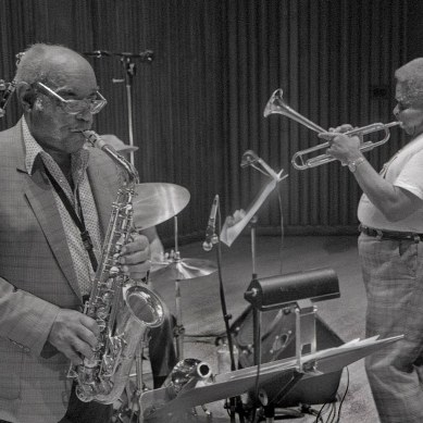 "Benny Carter and John Birks ""Dizzy"" Gillespie"