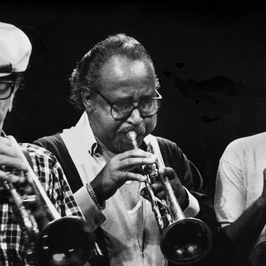 "Aldolphus ""Doc"" Cheatham, Harry ""Sweets"" Edison and Wynton Marsalis"